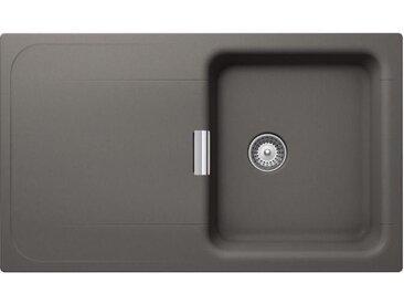 SCHOCK évier avec bac et égouttoir réversible WEMBLEY D100 (Silverstone - Cristadur® Premium)