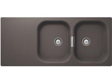 SCHOCK évier avec 2 bacs et égouttoir réversible WEMBLEY D200 (Silverstone - Cristadur® Premium)