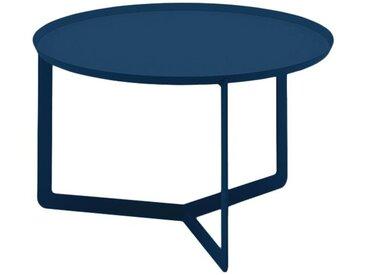 MEME DESIGN table basse pour extérieur ROUND 2 OUTDOOR (Bleu marine - Métal)