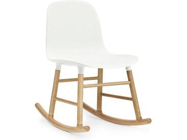 NORMANN COPENHAGEN fauteuil à bascule FORM ROCKING CHAIR (Blanc - Polypropylène et chêne)