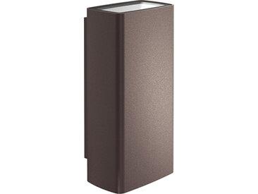 FLOS OUTDOOR lampe murale applique pour extérieur CLIMBER 87 UP & DOWN FLOOD (Deep brown 4000K - aluminium et verre)