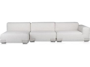 KARTELL Sofa Plastics Duo 2,90 mt - Composition 4 (Blanc - polycarbonate, Coton, Viscose, Lin, Soie)