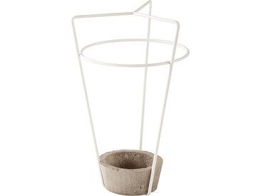 MEME DESIGN porte-parapluie AMBROGIO (Blanc - métal et ciment)