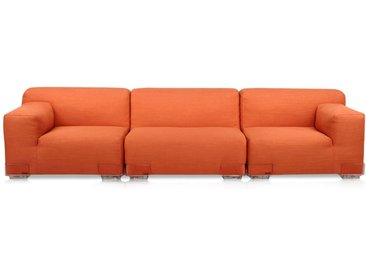KARTELL Sofa Plastics Duo 2,64 mt - Composition 3 (Orange - polycarbonate, Coton, Viscose, Lin, Soie)