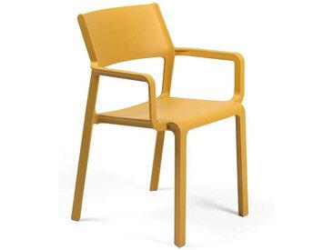 NARDI chaise avec accoudoirs pour extérieur TRILL ARMCHAIR (Moutarde - Polypropylène PRV)