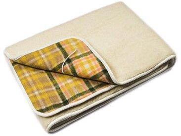LANCALOR couverture chauffante électrique SCALDANOTTE MAXI une place et demi 190 x 120 cm 100% laine pure vierge merinos