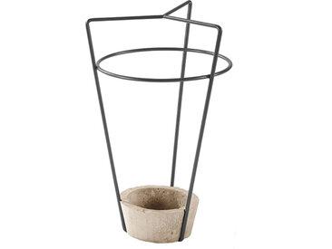 MEME DESIGN porte-parapluie AMBROGIO (Graphite - métal et ciment)