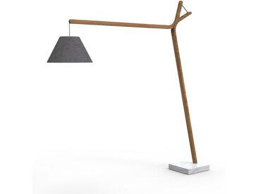 TALENTI lampadaire d'extérieur CLEO TEAK Collection Icon (Dark grey - Teck, tissu et marbre de Carrara)