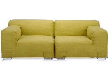 KARTELL Sofa Plastics Duo 1,76 mt - Composition 1 (Vert - polycarbonate, Coton, Viscose, Lin, Soie)