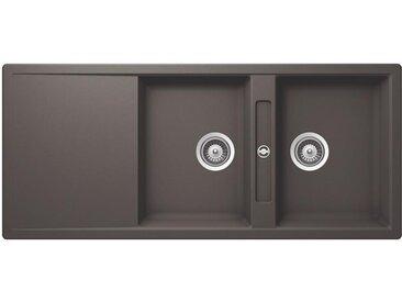 SCHOCK évier avec 2 bacs et égouttoir réversible SIGNUS D200E (Silverstone - Cristadur® Premium)