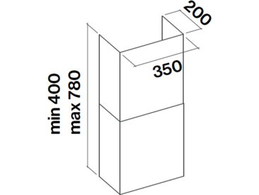 FALMEC cheminée KCQAN.00#B pour hotte FLIPPER, GLEAM, QUASAR et DIAMANTE 35 cm (Blanc - Acier)