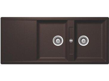 SCHOCK évier avec 2 bacs et égouttoir réversible SIGNUS D200E (Bronze - Cristadur® Premium)