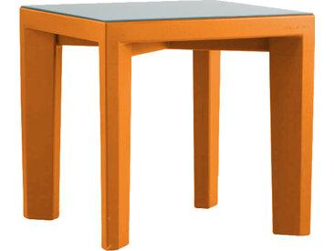 SLIDE table basse pour extérieur GINO (Orange - Polyéthylène et verre)