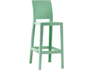 KARTELL set de 2 tabourets ONE MORE PLEASE H 75 cm (Vert - Polycarbonate coloré dans la masse)