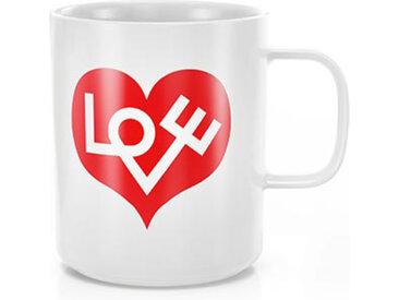 VITRA tasse COFFEE MUGS (Love Heart, crimson - Porcelaine)