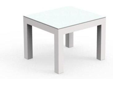 TALENTI table basse d'extérieur TOUCH Collezione PiùTrentanove (White - Aluminium peint et verre)