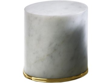 OPINION CIATTI cale-porte FERMAPORTE (Blanc - Marbre de Carrare et or 24K)