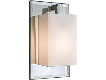 CONTARDI lampe murale applique COCO DELUXE (Percaline blanc - Chorme avec miroir poncé et tissu)
