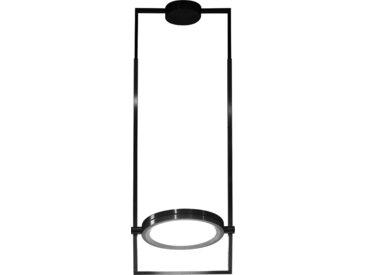 CONTARDI lampe à suspension DORIAN SMALL (Laque noire satinée - Plexiglas et miroir fumé)