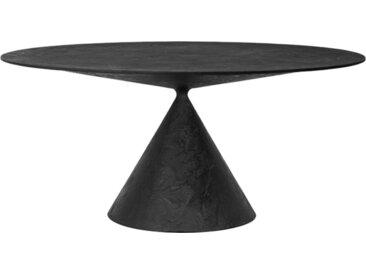 DESALTO table oval CLAY (120x180 cm / Pierre de lave - Base en polyuréthane / Plateau MDF avec revêtement)