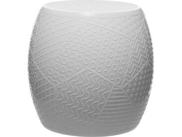 KARTELL tabouret ROY (Blanc - Technopolymère thermoplastique coloré dans la masse)