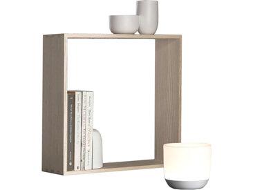 FLOS lampe de table avec serre-livres et porte-clés GAKU WIRELESS BLANCHE