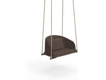 TALENTI balançoire avec cordes d'extérieur CLEO TEAK Collection Icon (Bronze mélange - Tissu)