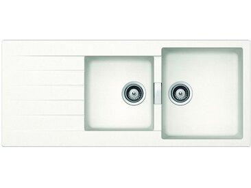 SCHOCK évier avec 2 bacs et égouttoir réversible PRIMUS D200 (Blanc pur - Cristalite®)