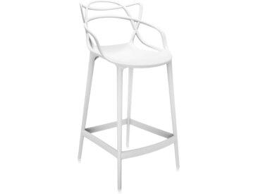 KARTELL tabouret MASTERS STOOL H 65 cm (Blanc - Polycarbonate coloré dans la masse)