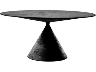 DESALTO table oval CLAY (110x160 cm / Pierre de lave - Base en polyuréthane / Plateau MDF avec revêtement)