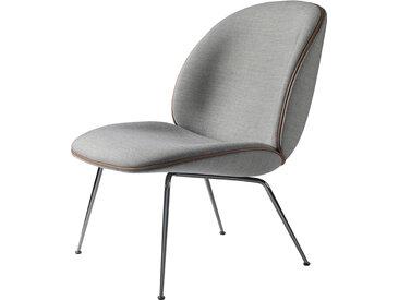 GUBI fauteuil BEETLE LOUNGE CHAIR CONIC BASE (Remix 123 base cromo noir - tissu Remix)