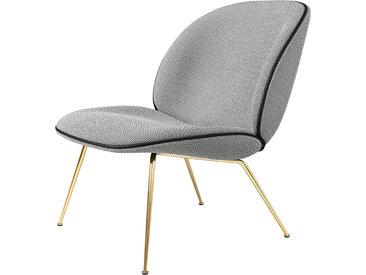 GUBI fauteuil BEETLE LOUNGE CHAIR CONIC BASE (Colline 118 base ottone - Tissu Kvadrat)