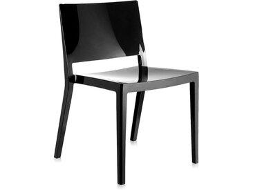 KARTELL set de 2 chaises LIZZ (Noir - Technopolymère thermoplastique coloré dans la masse)