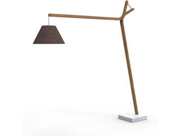TALENTI lampadaire d'extérieur CLEO TEAK Collection Icon (Bronze mélange - Teck, tissu et marbre de Carrara)