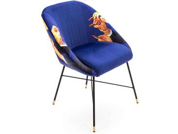 SELETTI chaise rembourrée TOILETPAPER PADDED CHAIR (Lipsticks - Tissu en polyester, Structure en bois, polyuréthane et métal)