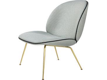 GUBI fauteuil BEETLE LOUNGE CHAIR CONIC BASE (Korbflecht MC741D35 base ottone - tissu Backhausen)