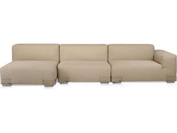 KARTELL Sofa Plastics Duo 2,90 mt - Composition 4 (Gris tourterelle - polycarbonate, Coton, Viscose, Lin, Soie)