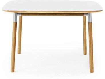 NORMANN COPENHAGEN table carrée FORM TABLE 120 x 120 cm (Blanc - Linoleum et chêne)