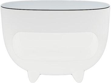 SLIDE comptoir de bar lumineux SPLAY (Blanc - Polyéthylène et verre)