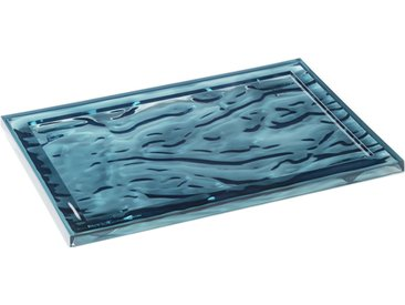 KARTELL plateau DUNE (46 x 32 cm Bleu E4 - Technopolymère thermoplastique coloré dans la masse)