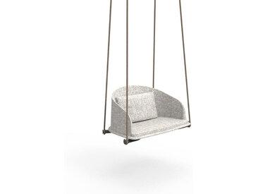TALENTI balançoire avec cordes d'extérieur CLEO TEAK Collection Icon (White snowy - Tissu)