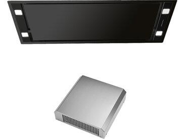 FALMEC hotte au plafond STELLA 90 cm NOIRE (Moteur extérieur 1000 m3/h - Acier noir opaque)