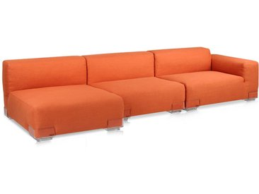 KARTELL Sofa Plastics Duo 2,64 mt - Composition 5 (Orange - polycarbonate, Coton, Viscose, Lin, Soie)