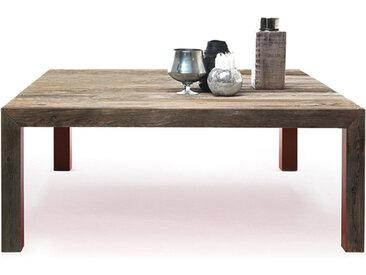 MOGG table ZIO TOM TABLE (cm 150x150x75H - bois de sapin antique)