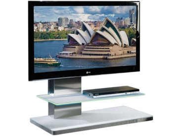 MUNARI meuble avec LED pour TV SYDNEY SY 341 SY341BI (Blanc - Verre)