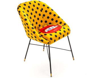 SELETTI chaise rembourrée TOILETPAPER PADDED CHAIR (Shit - Tissu en polyester, Structure en bois, polyuréthane et métal)