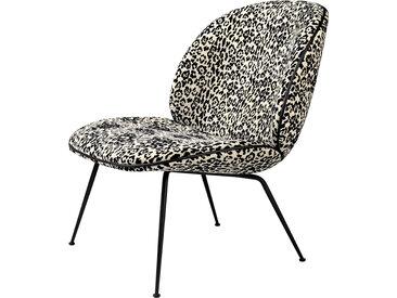 GUBI fauteuil BEETLE LOUNGE CHAIR CONIC BASE (Jungle F2861003 base nera - tissu Pierre Frey)