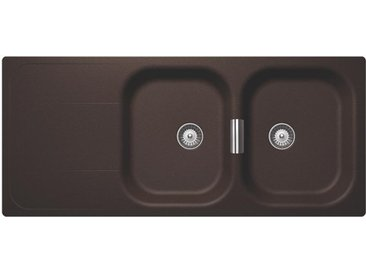 SCHOCK évier avec 2 bacs et égouttoir réversible WEMBLEY D200 (Bronze - Cristadur® Premium)