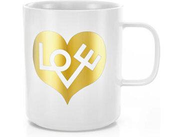 VITRA tasse COFFEE MUGS (Love Heart, gold - Porcelaine)