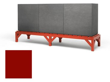 MOGG meuble BLOCCONE CREDENZA (Rouge sénégal, ral 3001 - Mdf et bois massif)